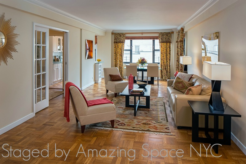 Home Staging NYC French Country LIving Room