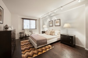 Master Bedroom home staging NYC