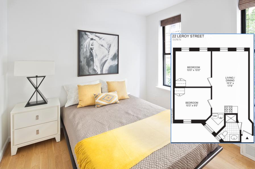 amazing Space NYC works wonders home staging the master bedroom