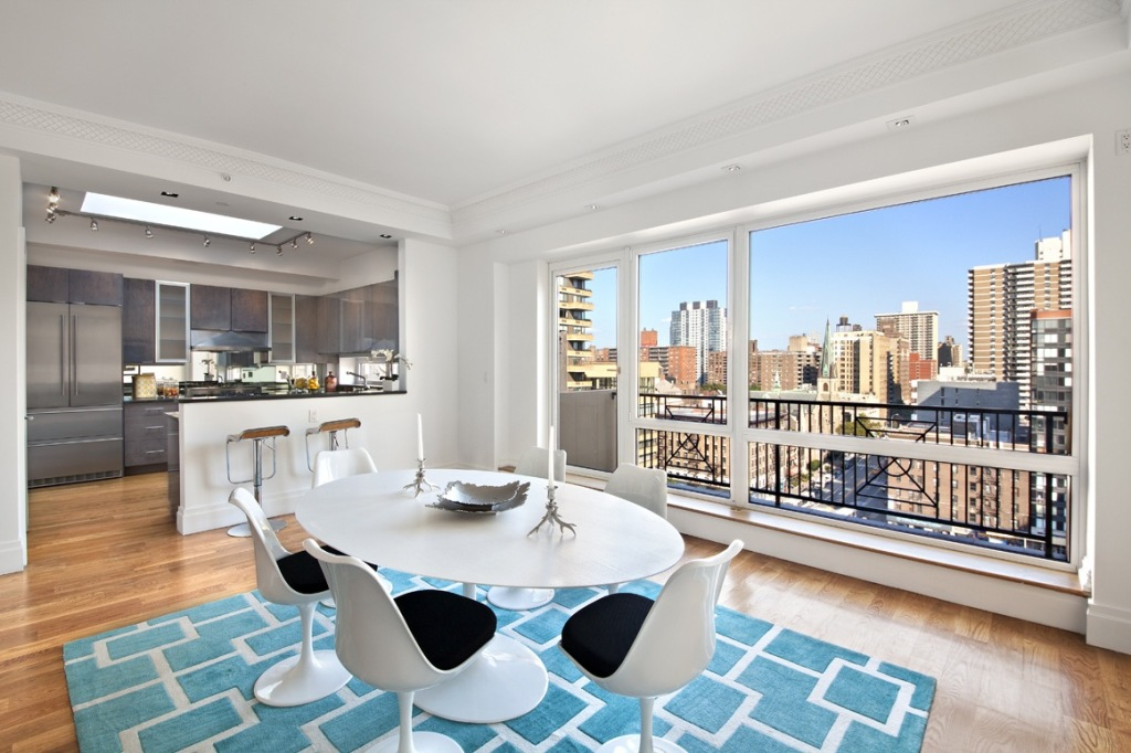 Lots of sky in this staged penthouse on NYC's upper west side