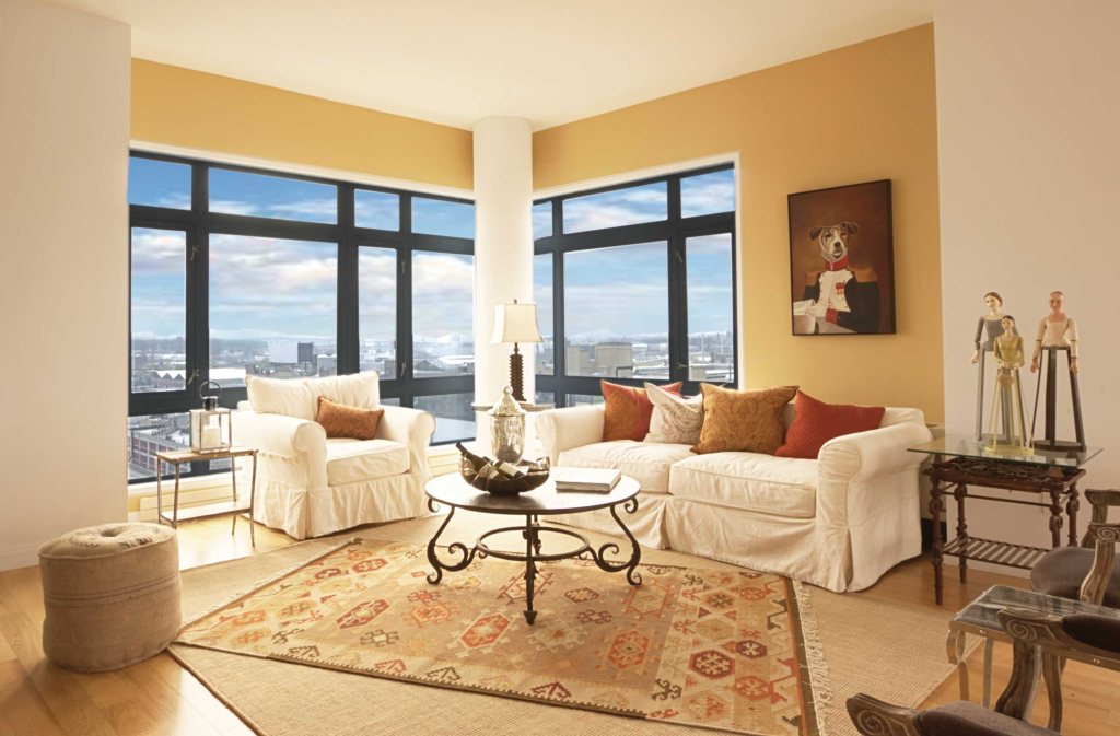 long Island City home staging of a penthouse apt