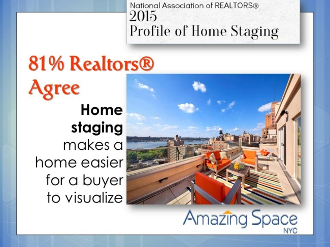 NYC Home Stager reports on NAR survey's best stat