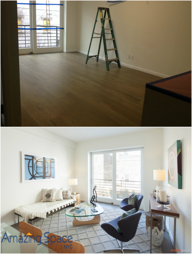 Long Island City Duplex is staged for sale