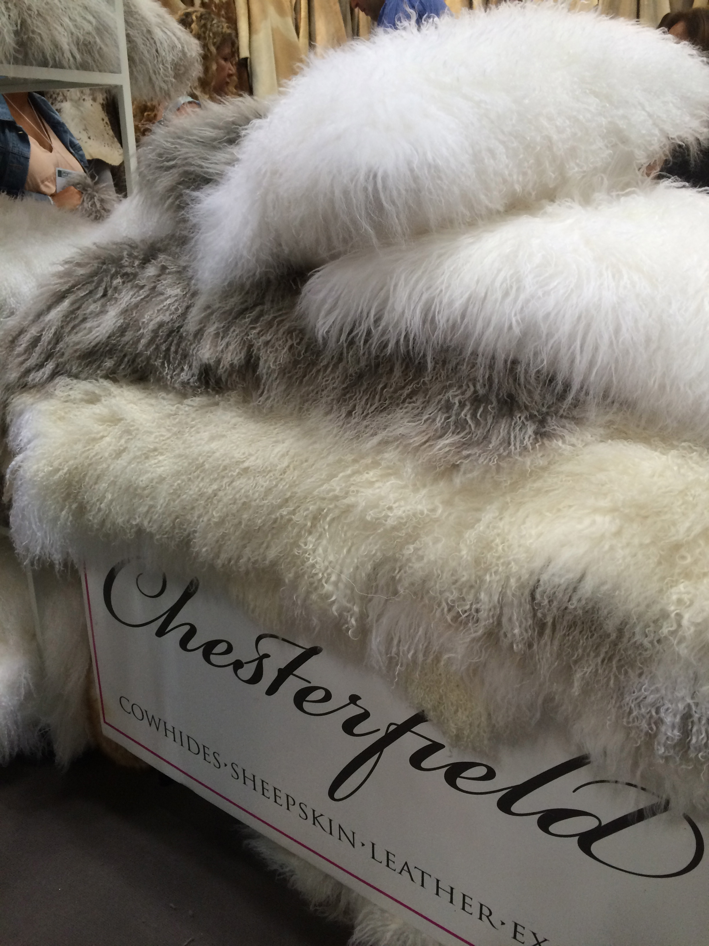 Fuax sheepskin is a strong design trend